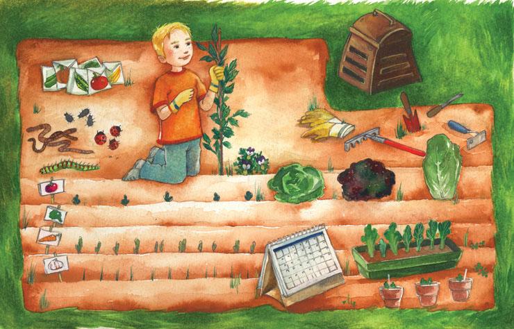 Le potager croquarium - Dessin de potager ...